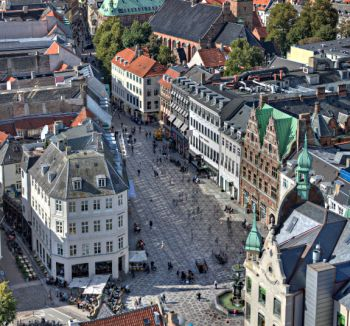 מבט על העיר קופנהגן.