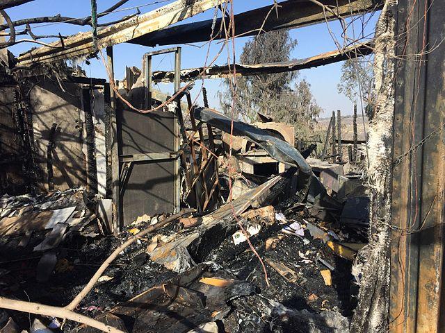 """מסעדת """"המטבח של רמה"""" בנטף, שנהרסה בגל השרפות"""